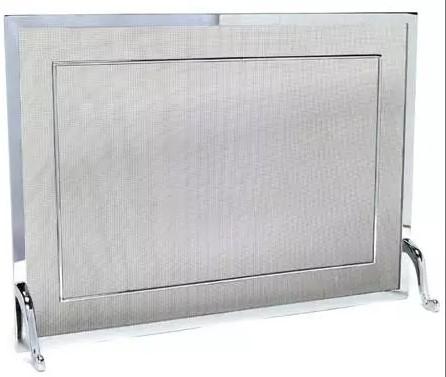 Tela Para Proteção - Grade Para Lareira  Latão com friso