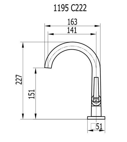 Torneira De Lavatório alta 1195 C222 Bella Classica  Cromada Fani