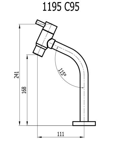 Torneira De Lavatório Média 1195 C95 Slim Cromada Fani