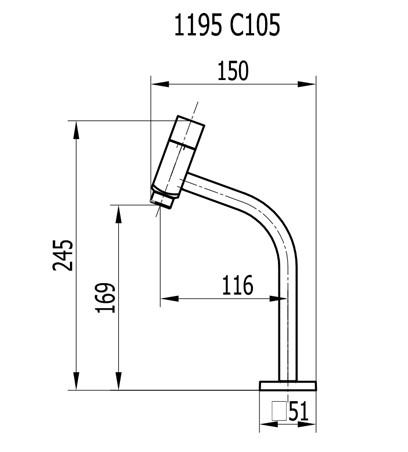 Torneira De Lavatório Mesa 1/4 De Volta Cromado 1195 C105 Hera