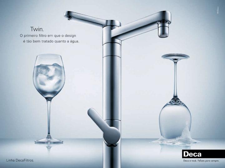Torneira de mesa c/ filtro p/ cozinha  TWIN 1140.C Deca