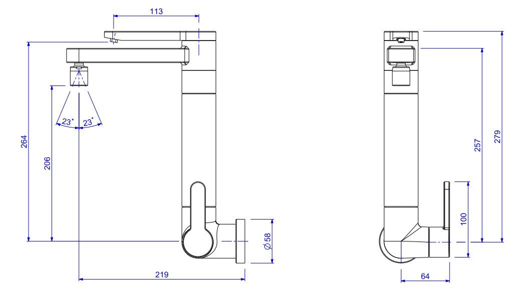 Torneira de parede c/ filtro p/ cozinha TWIN 1148.C Deca