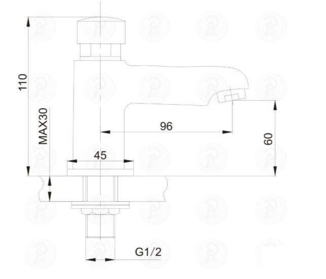 Torneira Lavatorio de Mesa com Fechamento Automático WJ-8101