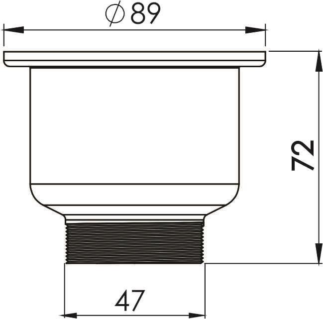 """Válvula - 3.1/2 com Cesto Removivel   """"Basket"""" P/ Pia e Cozinha"""