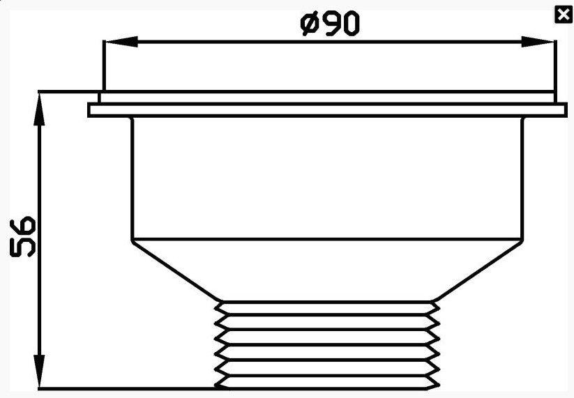 Válvula De Escoamento De Pia De Cozinha 3 1/2 Inox