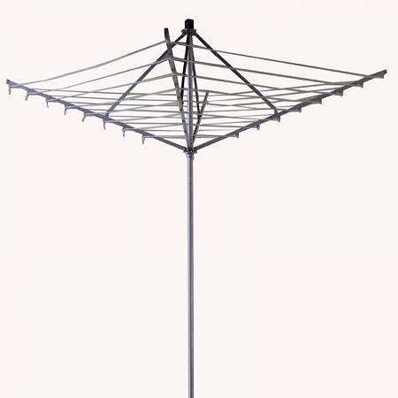 Varal de Chao Giratorio Aluminio Branco  - Fixo 2,72m diâmetro x 2,16m altura