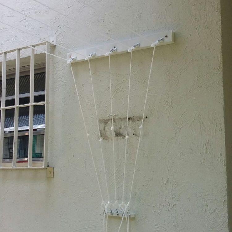 Varal de parede a parede Removivel -Hastes individuais