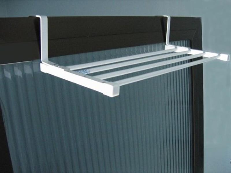 Varal para box de encaixe Aluminio branco