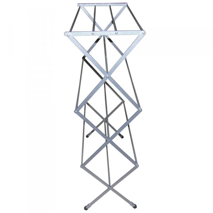 Varal  Sanfonado de chao Vertical Aluminio Branco