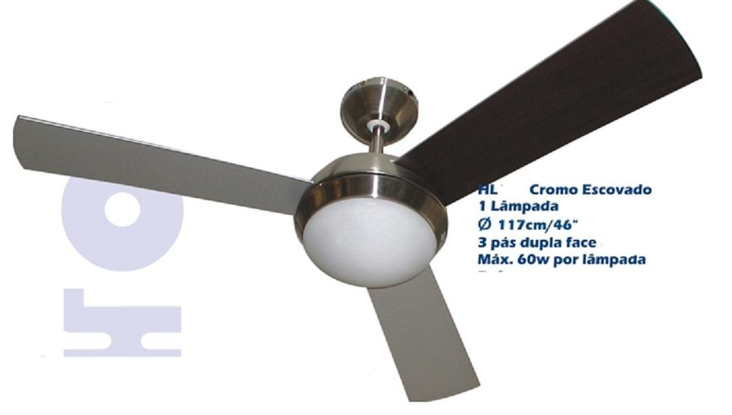Ventilador De Teto 3 Pás - Homeline  Hl 61 Fox Escovado 127v