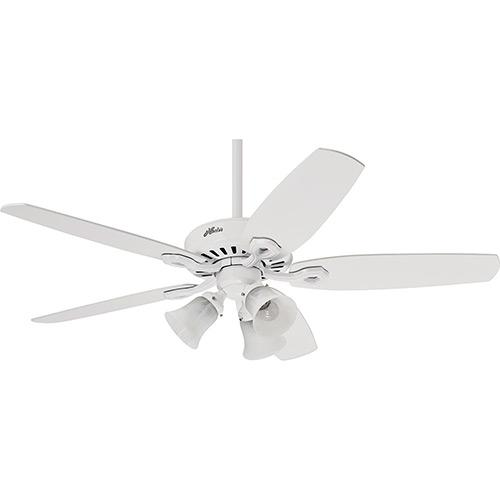 Ventilador de Teto BUILDER PLUS - Hunter - 5 Pás - Branco