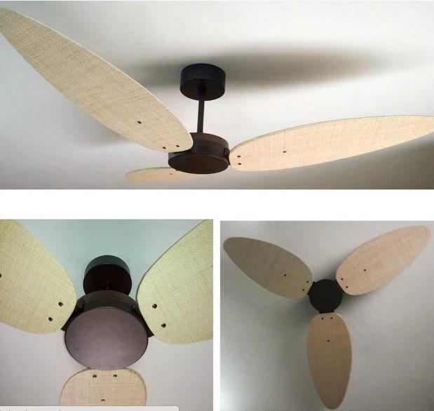 Ventilador De Teto Pás Em Fibra Natural Surf 1,68m