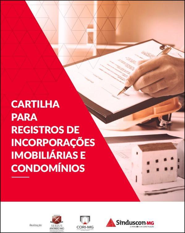 Cartilha para Registros de Incorporações Imobiliárias e Condomínios  - Livraria Sinduscon-MG
