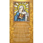 Imaculado Coração de Maria, Santinho, Formato Postal, pacote com 100 unidades