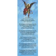 Rosário de São Miguel Arcanjo ou Terço dos Anjos, santinho, marcador de página, pacote com 100 unidades