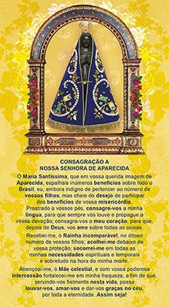 Consagração a Nossa Senhora Aparecida, formato postal
