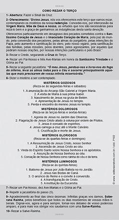 Nossa Senhora de Fátima, santinho, formato postal