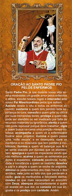 Padre Pio de Pietrelcina, santinho/marcador de página, pacote com 100 unidades