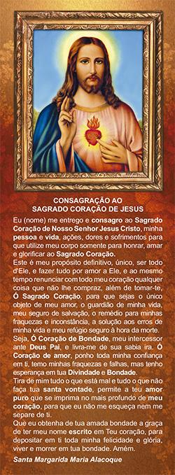 Sagrado Coração de Jesus, santinho, marcador de página, pacote com 100 unidades