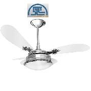 Ventilador De Teto New Delta Clean C/lustre E 3 Vel.cromado