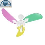 Ventilador De Teto New Colors C/lustre Feminino 3 Vel Branco