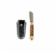 Canivete Aço Carbono Acetato C/Bainha 55/3 Cimo