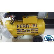 Compressor De Ar Ferrari Mega Air Cfa 24l Bivolt