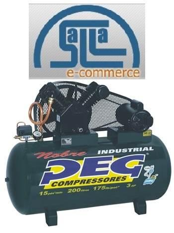 Compressor De Ar 15/225 175lib Motor 3hp Mono Peg Industrial