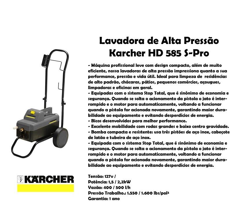 Lavadora  Karcher HD 585 Profissional 220v