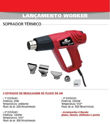 Soprador Térmico 2000w Worker