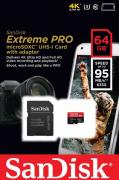 Cartão Memória Micro Sd Sdhc UHS-I 64gb Extreme Pro U3 4K