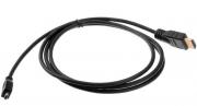 Gopro Acessórios - Cabo Hdmi Para Gopro 3,3+,4 + 1.5mt 3.5mm