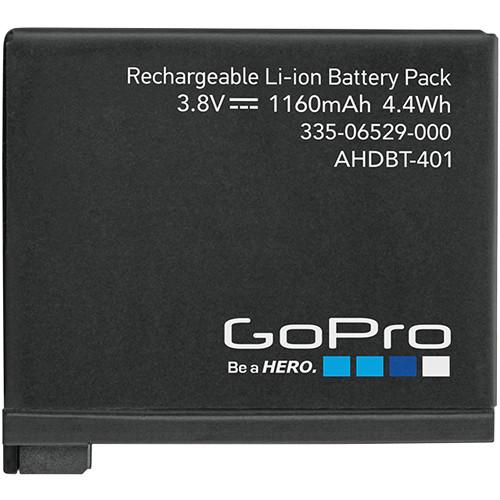 Bateria Original Recarregável GoPro AHDBT-401 1160 mAh p/ Câmera Hero 4 Black/Silver