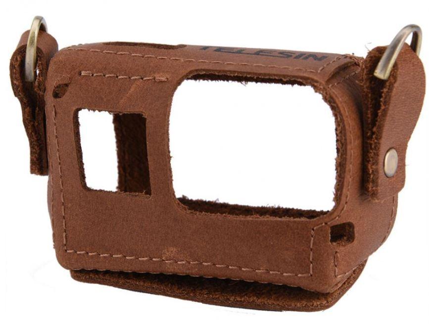 Bolsa Capa Case Protetora Couro Artesanal P/ Gopro 5/6