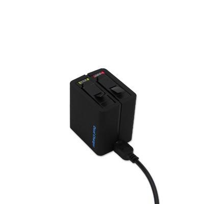 Carregador Duplo Bateria Camera GoPro Hero 4 Silver/Black