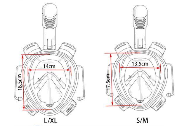 Gopro - Acessórios Máscara De Mergulho Surface Gopro 1-6 - Preto L/XL