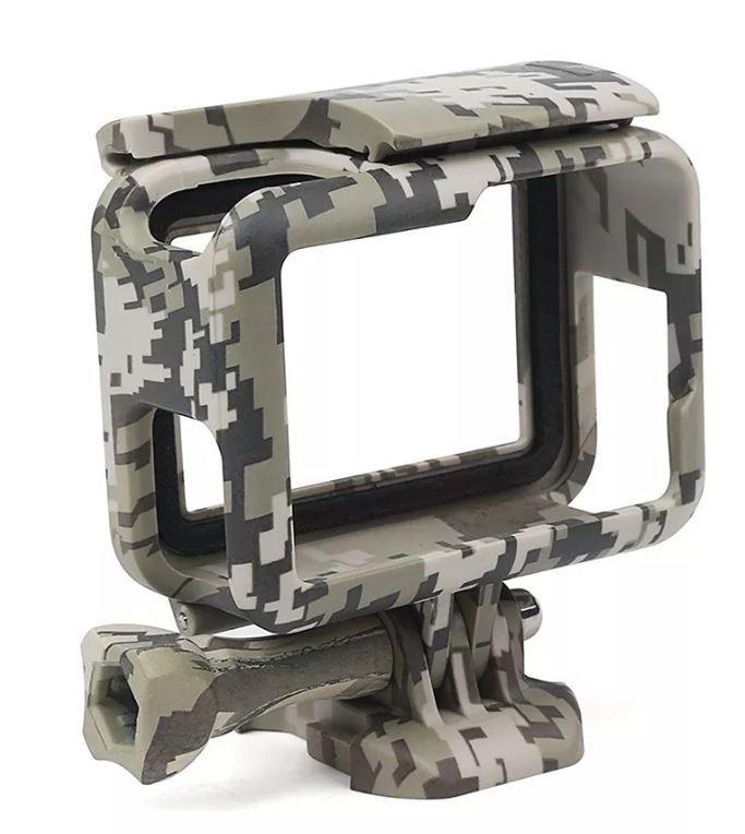 Gopro Suporte Armação Moldura Frame Camuflado Verde Escuro Hero 5/6