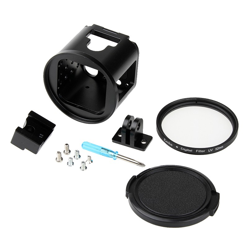 KIT Flash -  Frame em aluminio e Lente Kenko para GoPro Session 4