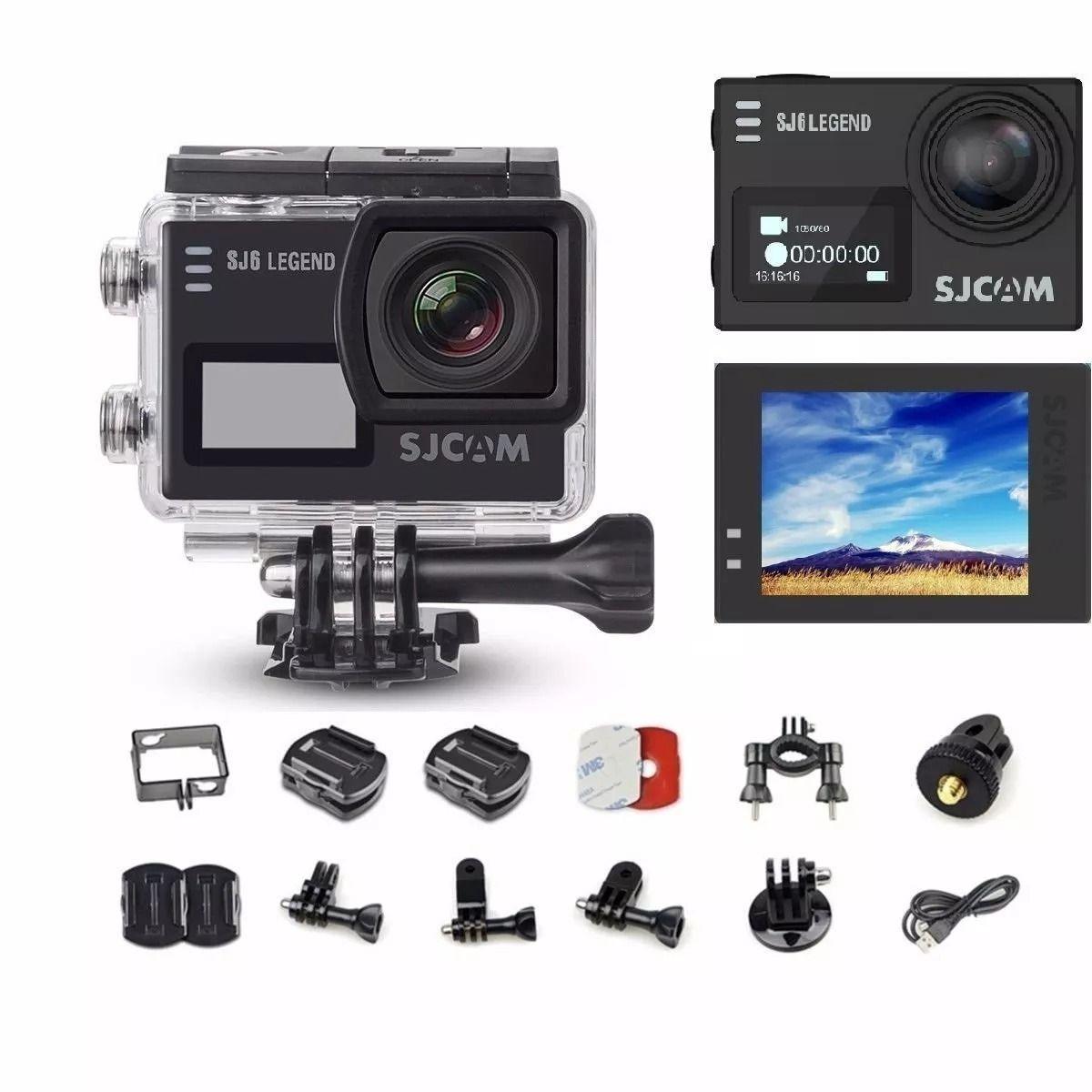 Sjcam Sj6 Legend Wifi - Actioncam 4k - Original + Acessórios - Preta