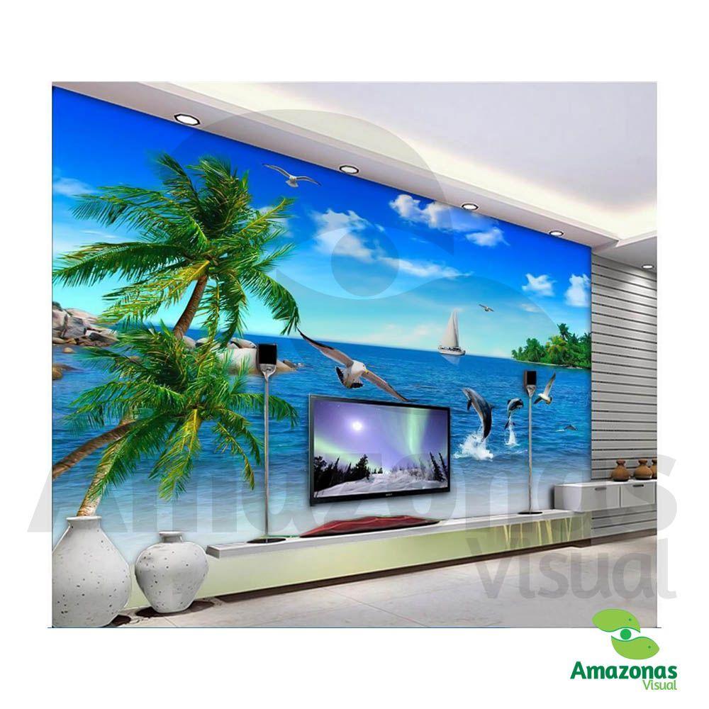Adesivo com Impressão Digital Tema Praia