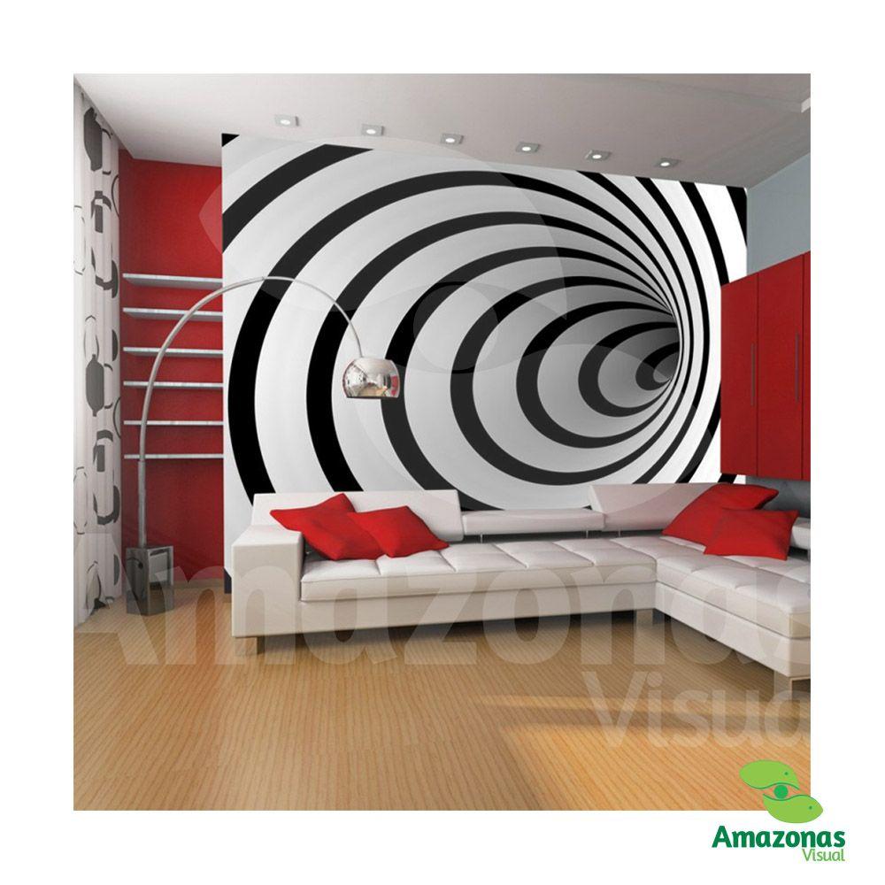 Adesivo Decorativo para Sala ilusão óptica