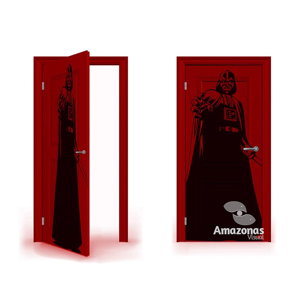 Adesivo para Decoração de Porta - Darth Vader