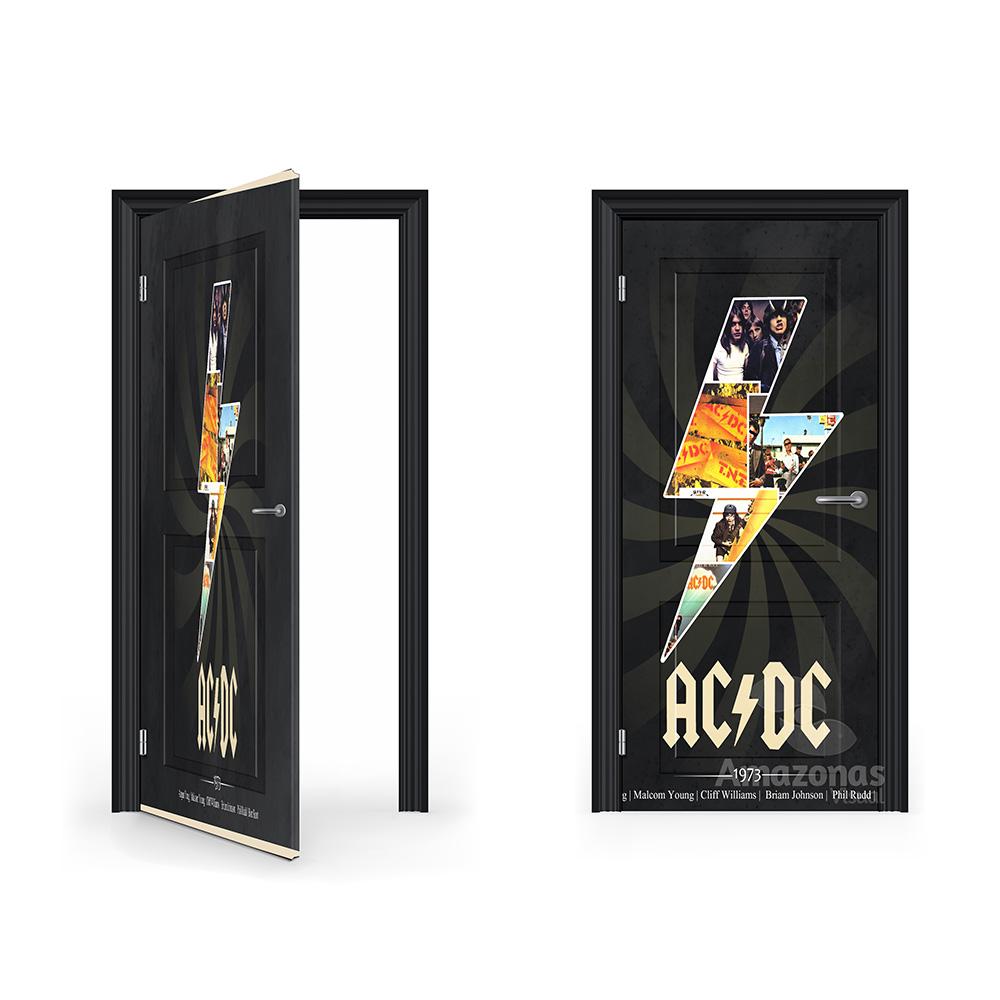 Adesivo para porta AC DC