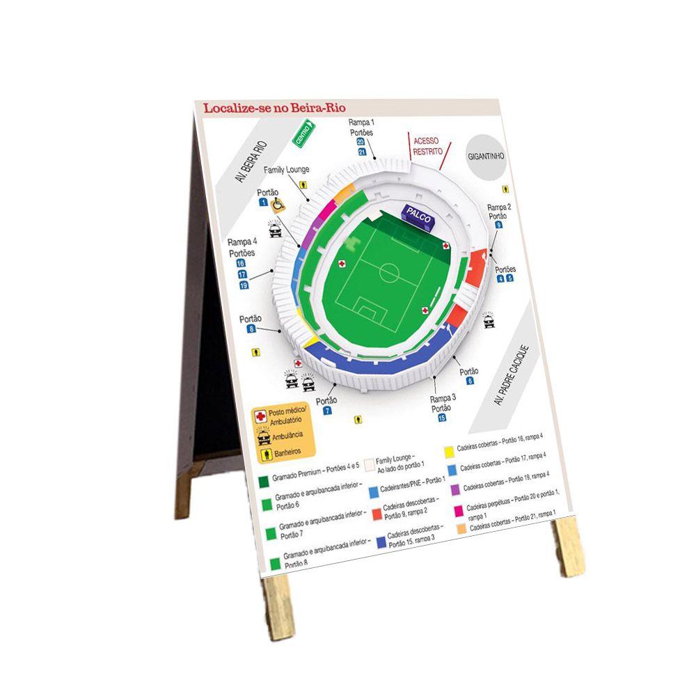 Cavalete Informativo Estádio futebol