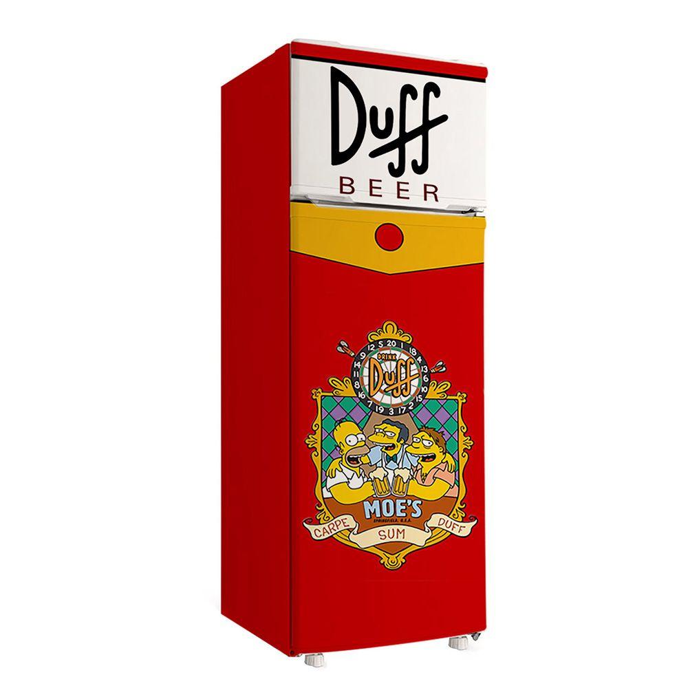 Envelopamento de Geladeira personalizada Duff Beer