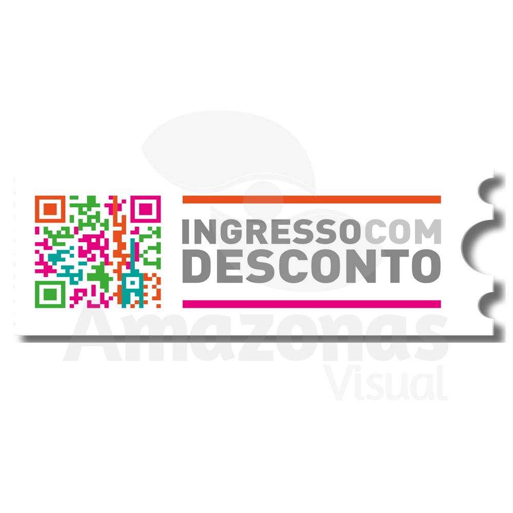 Faixa Promocional Ingresso com Desconto