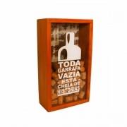 Quadro Porta Rolhas Medindo 0,21 x 0,09 Em Madeira Maciça de Demolição
