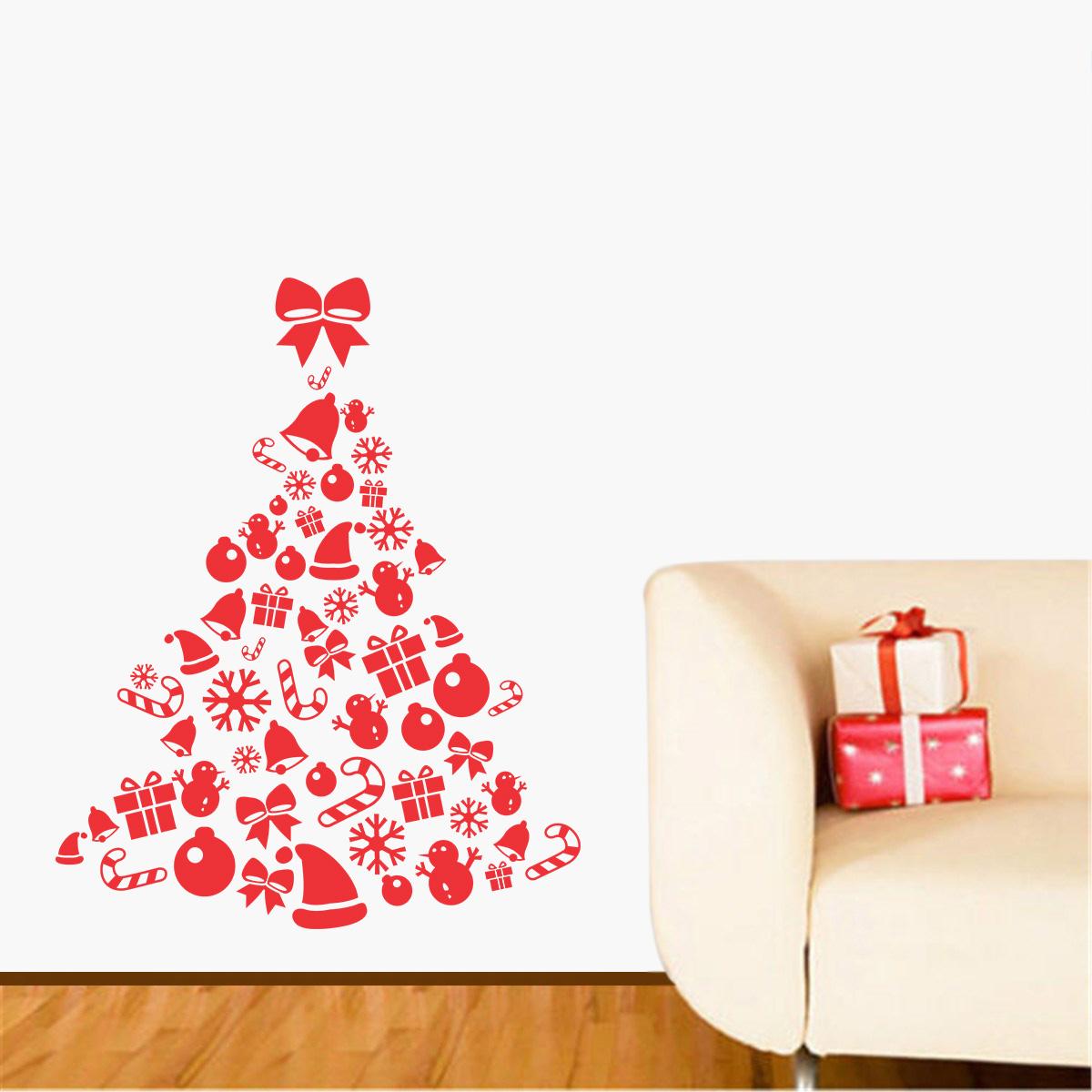Adesivo De Flamingo ~ Adesivo Decorativo de ParedeÁrvore de Natal 2