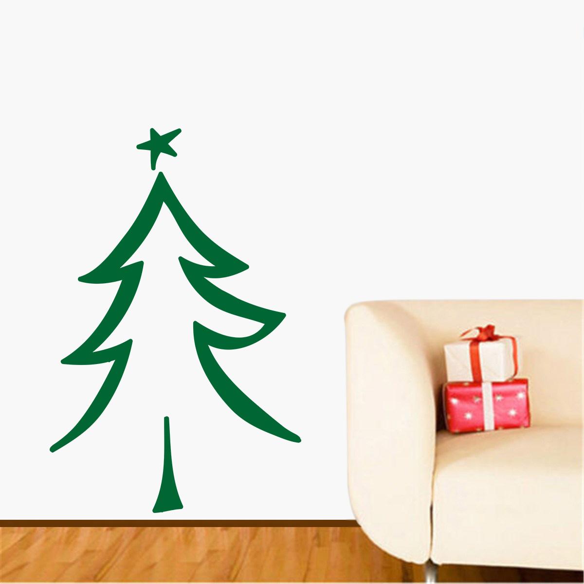 Artesanato Alentejo ~ Adesivo Decorativo de ParedeÁrvore de Natal 3