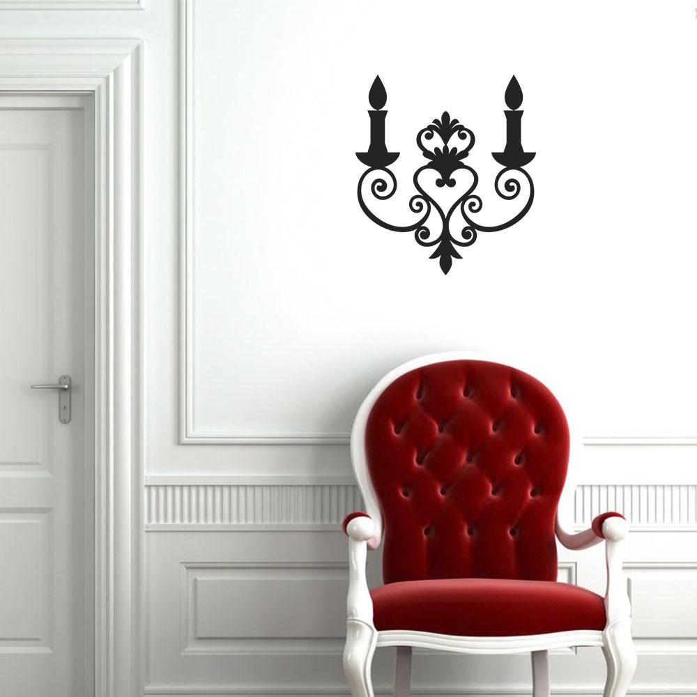 Artesanato Rede ~ Adesivo Decorativo de Parede Velas Branco
